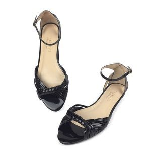Talbots black Patent Leather Dress Sandals